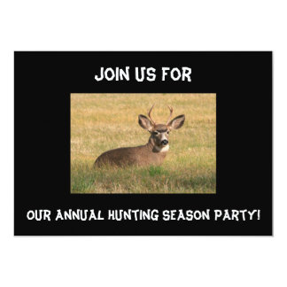 Deer Hunting Season Party Invitation.