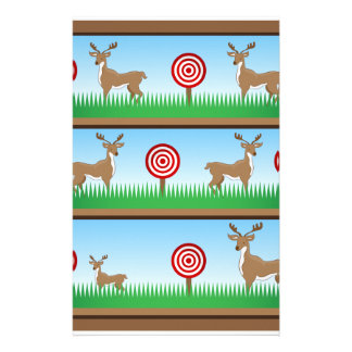 Deer Hunting Shooting Gallery Stationery