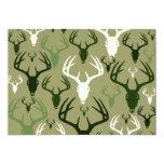 Deer Hunting Skull pattern Invitation