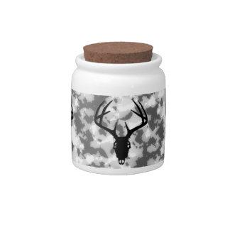 Deer Hunting Skull w/ antlers Candy Jar