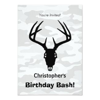 Deer Hunting Skull w/ antlers Card