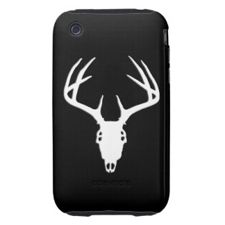 Deer Hunting Skull w Antlers Tough iPhone 3 Cases