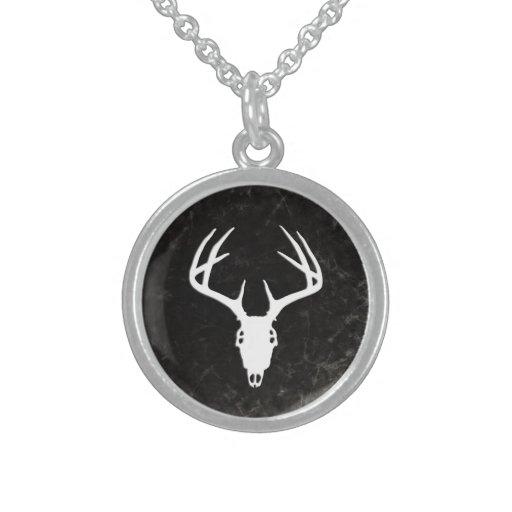 Deer Hunting Skull w/ Antlers Custom Jewelry