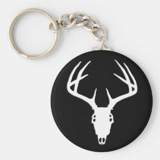 Deer Hunting Skull w/ Antlers Keychain