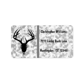 Deer Hunting Skull w/ Antlers Labels