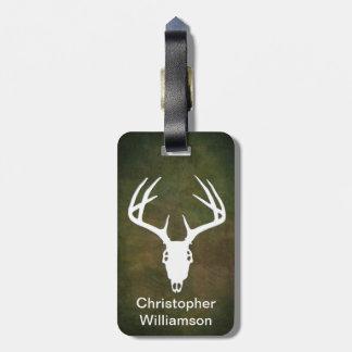Deer Hunting Skull w/ antlers Travel Bag Tags