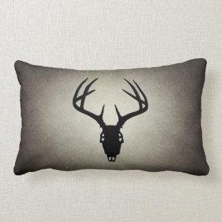 Deer Hunting Skull w/ Antlers Throw Pillow