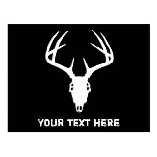 Deer Hunting Skull w/ Antlers Postcard