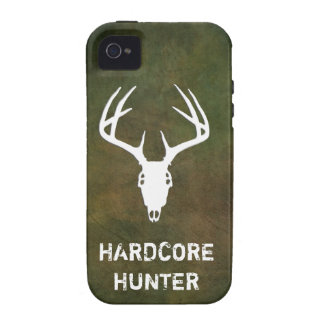 Deer hunting skull with antlers iPhone 4 cover