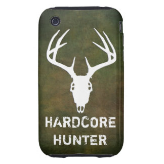 Deer hunting skull with antlers tough iPhone 3 cover