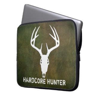 Deer hunting skull with antlers computer sleeve
