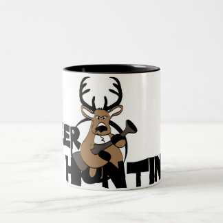 Deer Hunting Two-Tone Coffee Mug