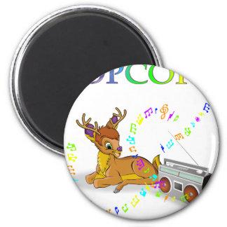 deer_illustration_No-14 2 Inch Round Magnet