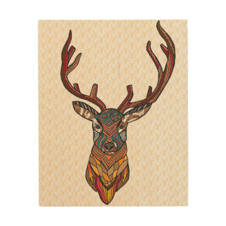Deer imagination wood wall art