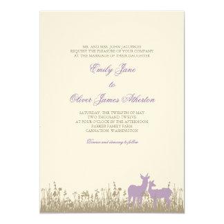 Deer in a Field Wedding Invitation