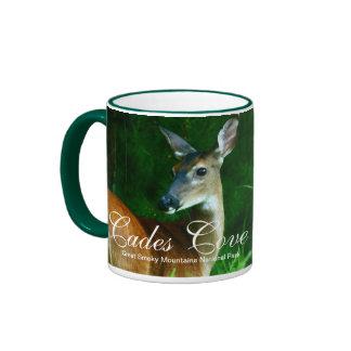 Deer in Cades Cove Ringer Mug