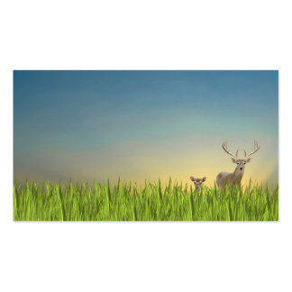 Deer in Field Double-Sided Standard Business Cards (Pack Of 100)