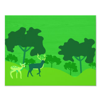 Deer in Forest 4.25x5.5 Paper Invitation Card