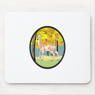DEER IN FOREST MOUSE PAD