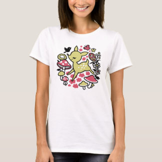 Deer in forest -pink T-Shirt