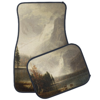 Deer In Lake With Snow Mountains Scene Car Floor Mat