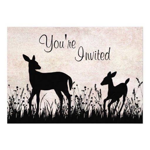 deer in meadow baby shower invitation zazzle
