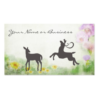 Deer in Meadow Business or Personal Calling Card Business Card