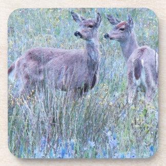 Deer in Meadow Cork Coaster