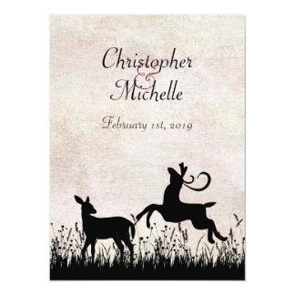 Deer in Meadow Wedding Invitation