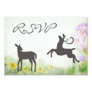 Deer in Meadow Wedding RSVP Card