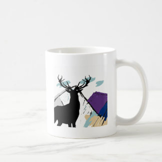 Deer in mountains coffee mug