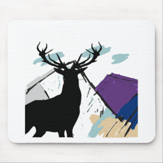 Deer in mountains mouse pad