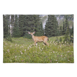 Deer in Paradise Park Cloth Placemat