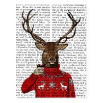 Deer in Ski Sweater 2 Postcard