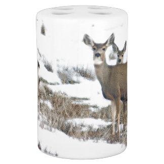 Deer in Snow Bath Set