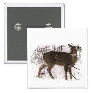 Deer in Snow Button