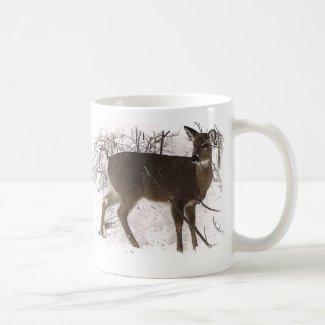 Deer in Snow Coffee Mug