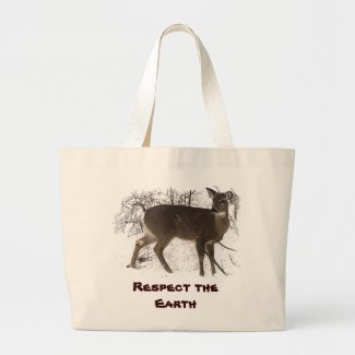 Deer in Snow - Earth Day bag