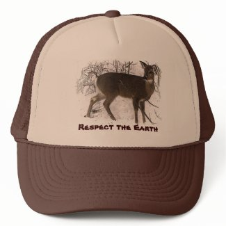Deer in Snow - Earth Day hat