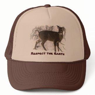 Deer in Snow - Earth Day Mesh Hat