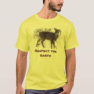 Deer in Snow - Earth Day T-Shirt