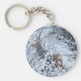 Deer in Snow Keychain