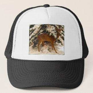 Deer In Snow Trucker Hat