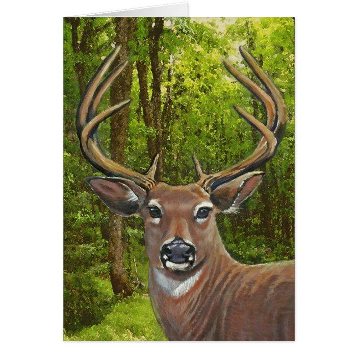 Deer in the Ash Meadow Card