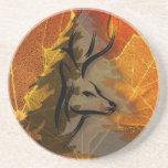Deer in the Autumn Woods Drink Coasters