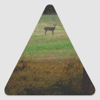 Deer in the Distance Triangle Sticker