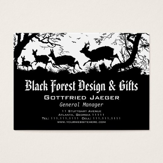 Deer in the Forest German Style Business Card