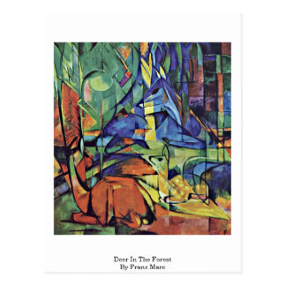 Deer In The Forest (Ii) By Franz Marc Postcard