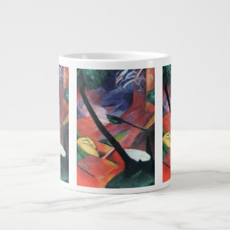 Deer in the Forest II by Franz Marc; Reh im Walde 20 Oz Large Ceramic Coffee Mug