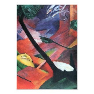 Deer in the Forest II by Franz Marc; Reh im Walde Card